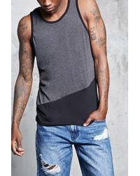 Forever 21 | Gray Colorblock Tank Top for Men | Lyst