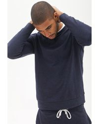 Forever 21 - Blue Classic Crew Neck Sweatshirt for Men - Lyst