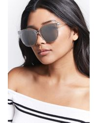 Forever 21 - Multicolor Oversized Cateye Sunglasses - Lyst