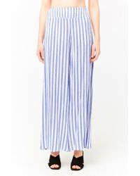 Forever 21 - Blue Striped Palazzo Trousers - Lyst