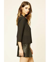 Forever 21 - Black Contemporary Polka Dot Top - Lyst