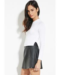 Forever 21 - White Heathered Knit Top - Lyst