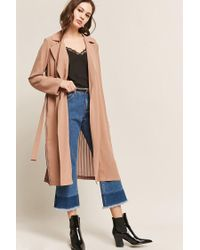 Accordion Forever Lyst Duster Woven In Pleat 21 Brown Jacket ZqpqR