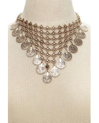 Forever 21 - Metallic Medallion Statement Necklace - Lyst