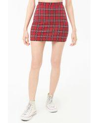 Forever 21 - Red Tartan Plaid Mini Skirt - Lyst