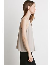 Forever 21 - Brown Pleated Chiffon Cami - Lyst