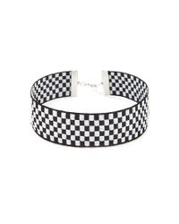 Forever 21 - Black Checkered Choker - Lyst