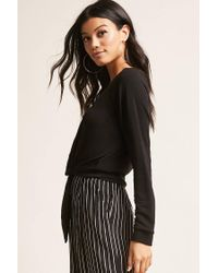 Forever 21 - Black Tie-front Top - Lyst