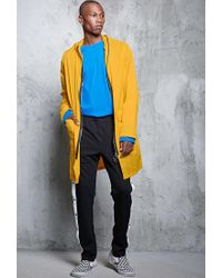 Forever 21 - Yellow Longline Two-way Zip Jacket for Men - Lyst
