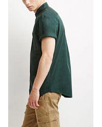 Forever 21 | Green Button-collar Shirt for Men | Lyst