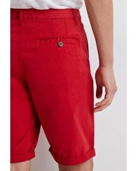 Forever 21 - Red Classic Chino Shorts - Lyst