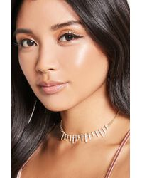 Forever 21 - Multicolor Variegated Bar Charm Choker - Lyst