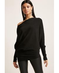 Forever 21 Black Asymmetrical Knit Tunic