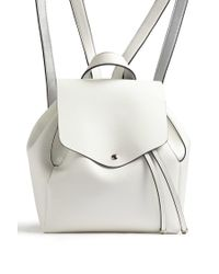 Forever 21 - White Faux Leather Flap Top Backpack - Lyst