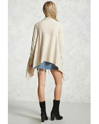 Forever 21 - Multicolor Marled Knit Drape Cardigan - Lyst