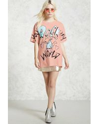Forever 21 - Pink You Rock My World Graphic Tee - Lyst