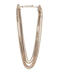 Forever 21 - Metallic Chevron Charm Layered Necklace - Lyst
