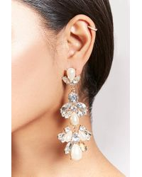 Forever 21 - Metallic Cluster Drop Earrings - Lyst