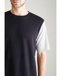 Forever 21 - Gray Colorblocked Sweatshirt Tee for Men - Lyst