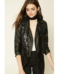 Forever 21 | Black Sequin Oblong Scarf | Lyst