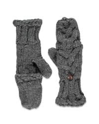 Forever 21 - Gray Cable Knit Convertible Gloves - Lyst