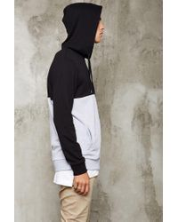 Forever 21 | Black Colorblock Heathered Hoodie for Men | Lyst