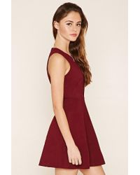 Forever 21 | Red Crisscross Fit And Flare Dress | Lyst