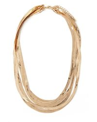 Forever 21 | Metallic Herringbone Chain Necklace | Lyst