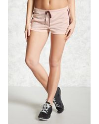 Forever 21 - Pink Active Contrast Trim Shorts - Lyst