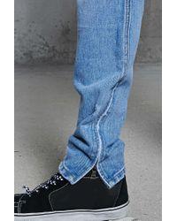 Forever 21 - Blue Ankle-zip Slim-fit Jeans for Men - Lyst