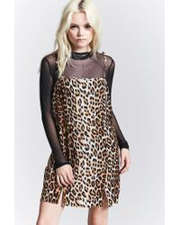 Forever 21 - Black Leopard Print Cami Dress - Lyst
