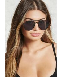 Forever 21 | Gray Tinted Aviator Sunglasses | Lyst