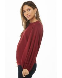 Forever 21 - Red Balloon Sleeve Jumper Sweater - Lyst