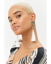 Forever 21 - Multicolor Double Disc Tassel Drop Earrings - Lyst
