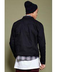 Forever 21 - Black Button-front Denim Jacket for Men - Lyst
