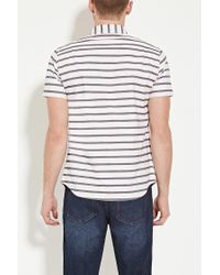 Forever 21 - Pink Stripe Buttoned Shirt for Men - Lyst
