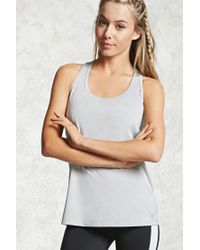 Forever 21 | Gray Active T-back Tank | Lyst