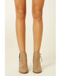 Forever 21 - Black Faux Suede Ankle Booties - Lyst