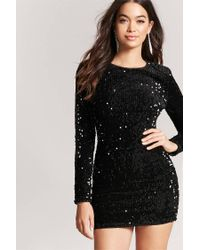 8c613083 Forever 21 Sequin Bodycon Dress in Black - Lyst