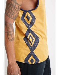 Forever 21 - Yellow Print Tank for Men - Lyst