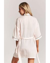 Forever 21 - Multicolor Striped Contrast Robe - Lyst