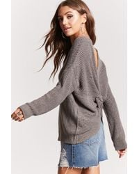 Forever 21 - Gray Twisted-hem Sweater - Lyst