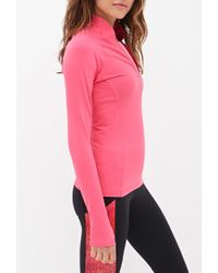 Forever 21 - Pink High Collar Running Jacket - Lyst