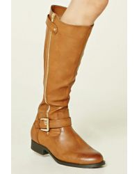 Forever 21 - Multicolor Knee-high Faux Leather Boots - Lyst