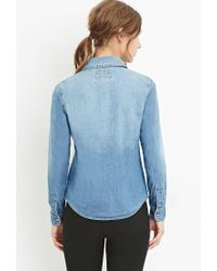 Forever 21 - Blue Classic Denim Shirt - Lyst