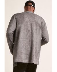 Forever 21 - Gray 's Open-front Cardigan Sweater for Men - Lyst