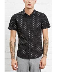 Forever 21 - Black Star Print Pocket Shirt for Men - Lyst