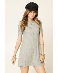 22198b089b Lyst - Forever 21 Marled Knit Shift Dress in Gray