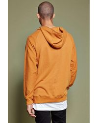 Forever 21 Metallic 's French Terry Knit Hoodie for men