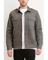 Forever 21 - Green Cotton Utility Jacket for Men - Lyst